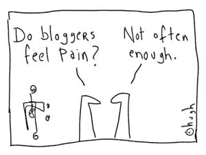 Do bloggers feel pain1111