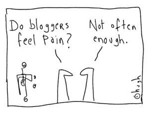 Do bloggers feel pain1111